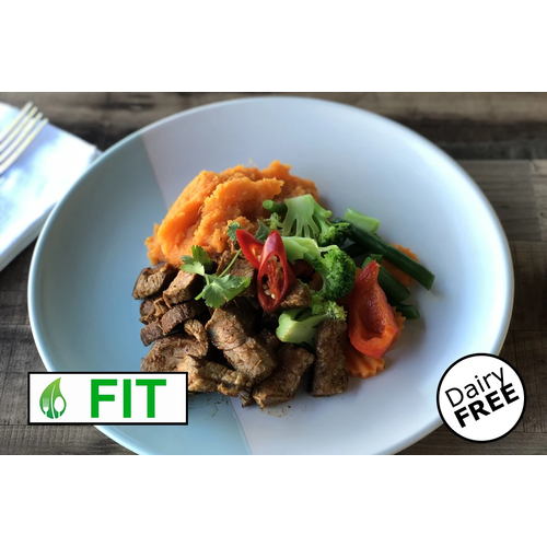 Texan Smokey Beef with Sweet Potato Mash (Fitness)