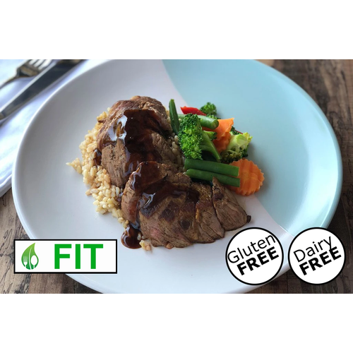 Sirloin Steak with Smokey BBQ Sauce (Fitness)